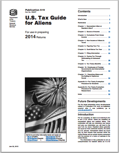 publication-519-tax-status-irs U.S. Tax guide for Aliens