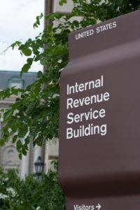 irs headquarters sign in washington d.c. a place for fbar reporting and becoming Fatca compliant